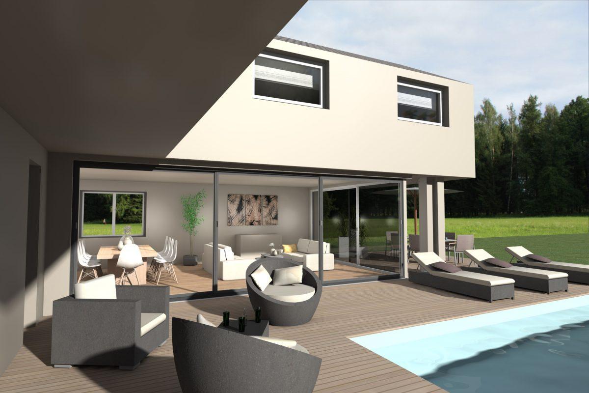 Construction maison piscine La Wantzenau Alsace