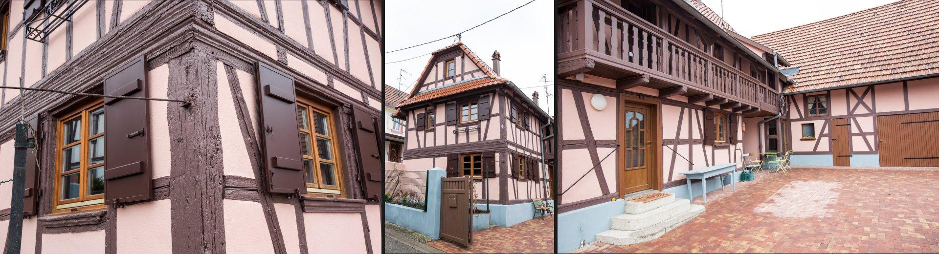 Rénovation façade maison alsacienne