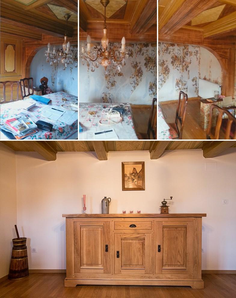 Rénovation maison alsacienne avant après